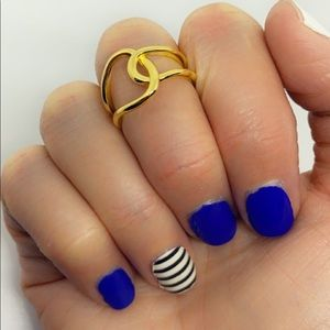 Solid 925 Sterling Silver Gold Knot Wrap Ring